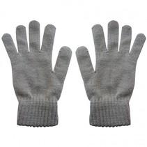 Merino wollen handschoenen - 100% merino wol gebreid - grijs