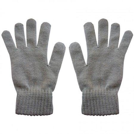 Highlander Merino wollen handschoenen - 100% merino wol gebreid - grijs