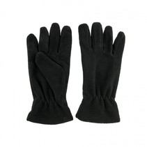 Fleece gloves medium - zwart