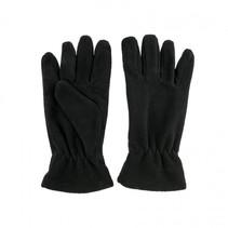 Fleece gloves medium - zwart