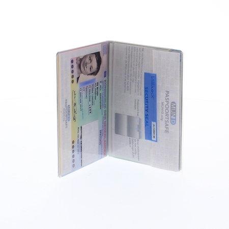 MijnID Paspoortsafe paspoorthoesje met RFID blokkering en verzegeling - wit