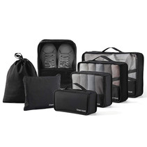 Packing cubes organiser set van 7 - zwart
