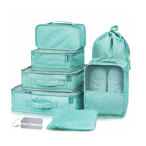 Packing cubes organiser set van 7 - mintgroen