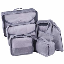 Packing cubes organiser set van 7 - grijs