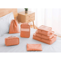 Packing cubes organiser set van 7 - oranjeroze
