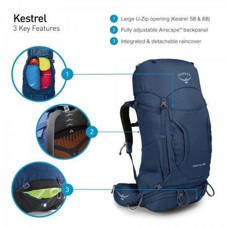 Osprey Kestrel 68l backpack heren - Loch Blue