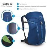 Osprey Hikelite 32l wandelrugzak - Bacca Blue