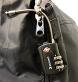 Sarhino Protect Zipper TSA cijferslot 3 cijfers - zwart