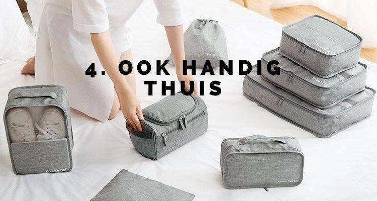 Eindelijk een reisproduct dat het hele jaar handig is! Packing cubes zijn ook super handig in je kledingkast thuis.