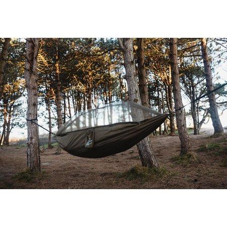Highlander Crusader - trekking hangmat met tarp en mosquitonet - olive groen