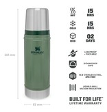 Stanley The Legendary Classic Bottle 0.47l thermosfles - Hammertone Green