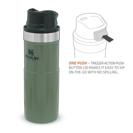 Stanley The Trigger Action Travel Mug thermosfles - Hammertone Green