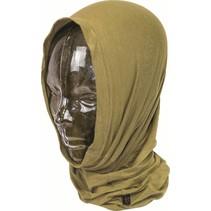 Headover nekwarmer  balaclava sjaal  - Tan bruin