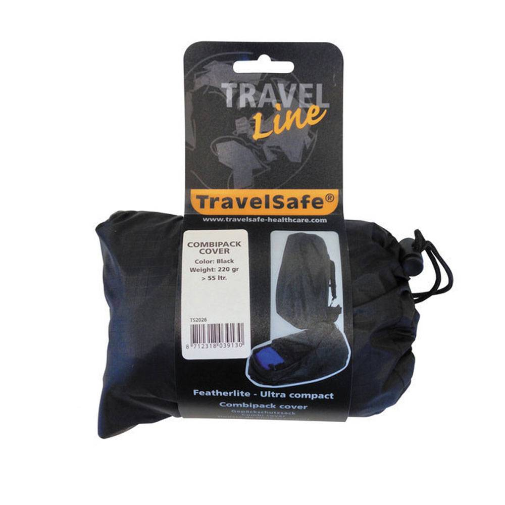 0c9adbc8412 Travelsafe Combi cover M - tot 55l - backpack flightbag & regenhoes - zwart