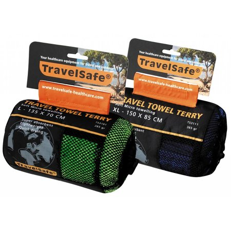 Travelsafe Microvezel reishanddoek L - 70 x 135 cm - Groen
