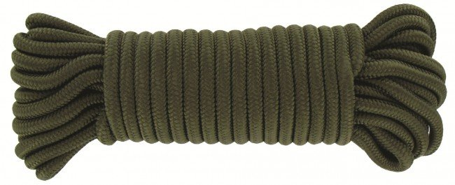 Highlander touw - 9mm x 15m - olive