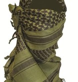 Highlander Unisex Shemagh Sjaal 110 x 115 cm - olive/wit/rood