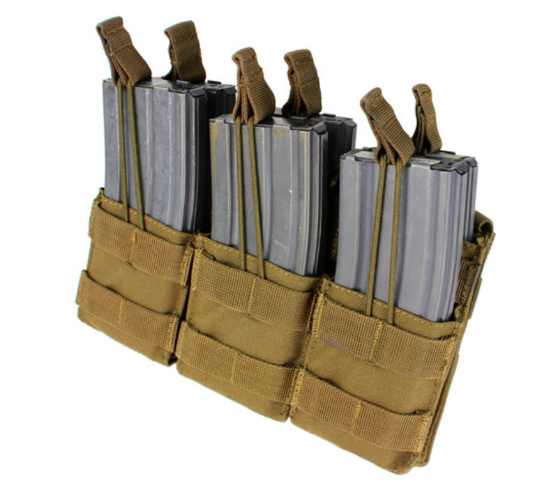 MA44 Triple Stacker M4 Mag pouch - Coyote Brown