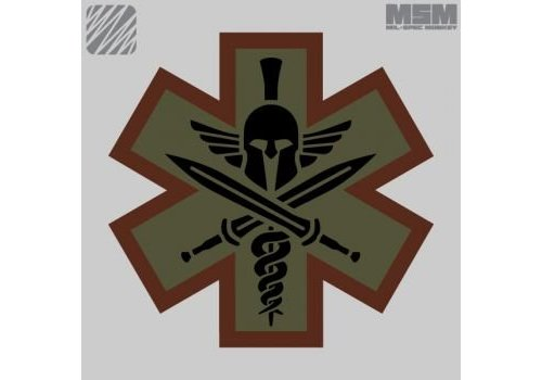 MilSpec Monkey Tactical Medic Spartan Patch - Desert