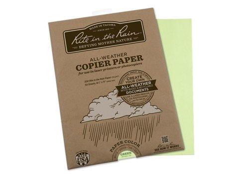 Rite in the Rain All Weather Copier paper A4 50 sheets - Green