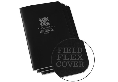 Rite in the Rain Field Flex Cover Notebook (3 pieces) 11,75cm x 17,5cm - Black