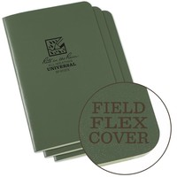 Field Flex Cover Notebook (3 pieces) 11,75cm x 17,5cm - Olive Drab