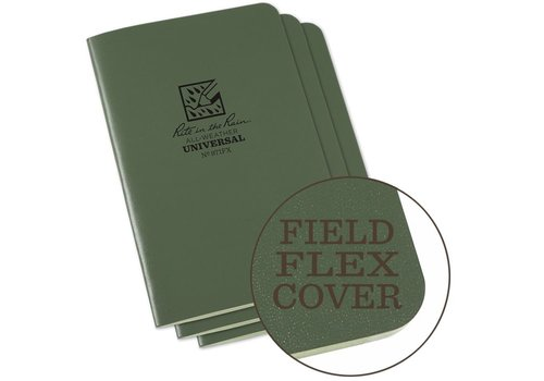 Rite in the Rain Field Flex Cover Notebook (3 pieces) 11,75cm x 17,5cm - Olive Drab