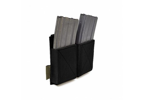 Warrior Double Elastic Mag Pouch - Black
