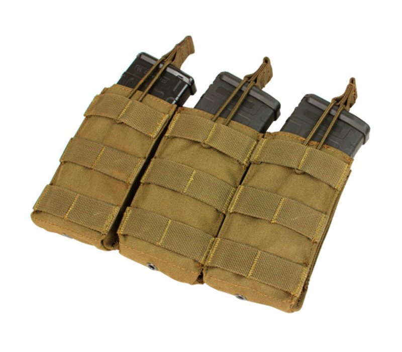 MA27 Triple Open Top M4/M16 Mag Pouch - Coyote Brown