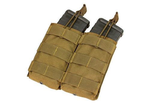 Condor Ma-19 Open-Top Double M4 Mag Pouch - Coyote Brown