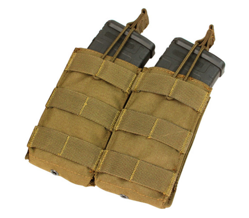 MA19 Double Open -Top M4 Mag Pouch - Coyote Brown