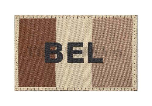 Claw Gear Belgian Flag 50 X 76mm - RAL7013  Desert