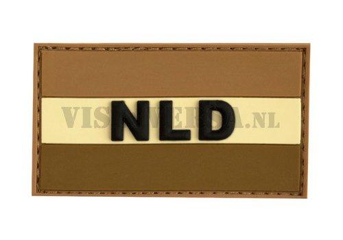 Rubber Badge - Niederländsche Fahne - Desert