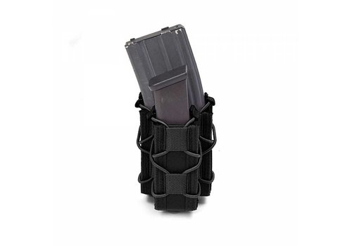 Warrior Single Quick Mag with Single Pistol Pouch -Black