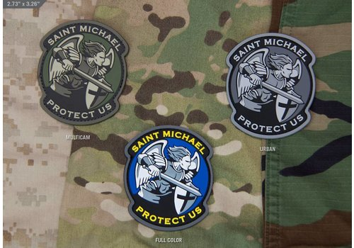 MilSpec Monkey Saint Michael Modern patch PVC - MultiCam