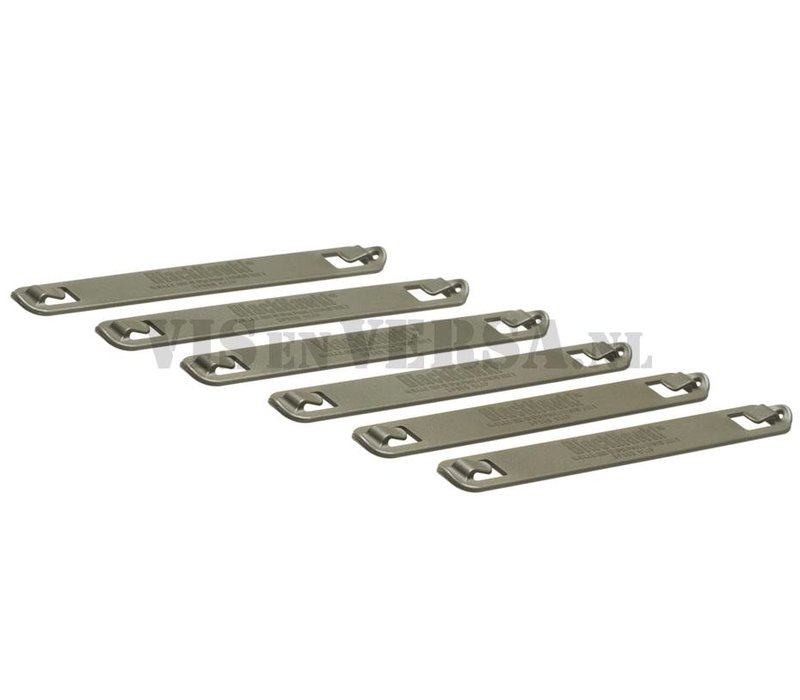 7 Inch Speed Clips 6pcs - Olive Drab