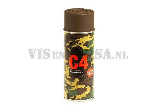 C4 Military Grade Color Spray RAL8027 (lederbruin)