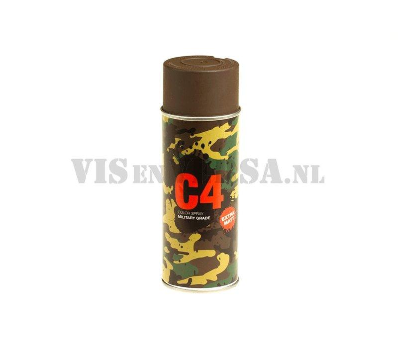 C4 Military Grade Color Spray RAL8027 (lederbruin)