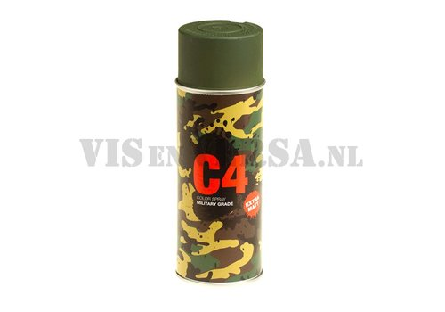 C4 Military Grade Color Spray RAL6031 (dark green)