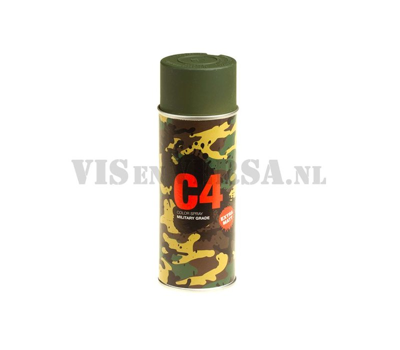 C4 Military Grade Color Spray RAL6031 (donker groen)