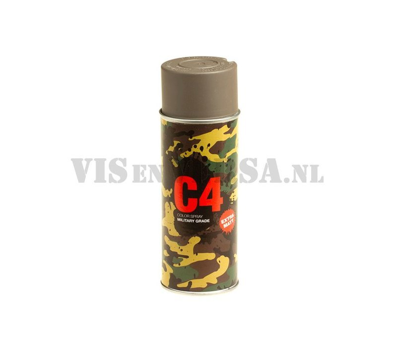 C4 Military Grade Color Spray RAL7050 - (grijs)