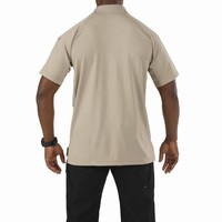 Performance Short Sleeve Polo - Silver Tan