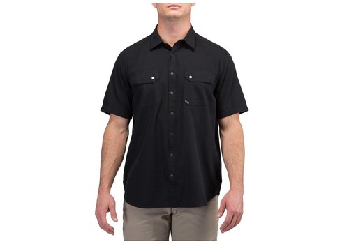 5.11 Tactical Herringbone Short Sleeve Shirt - Black HB