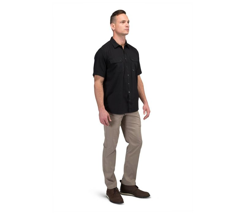 Herringbone Short Sleeve Shirt - Black HB