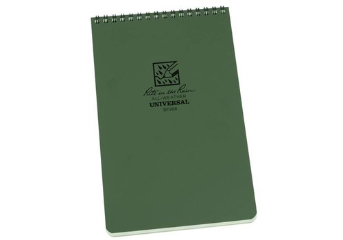 Rite in the Rain Top Spiral Notebook 14 X 21 cm - Olive Drab