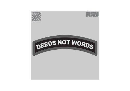 MilSpec Monkey Deeds Not Words patch