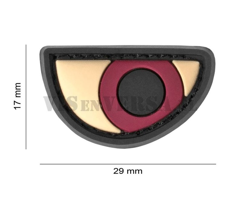 Angry Eyes Rubber Patch - Color