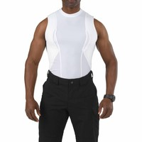 Sleeveless Holster Shirt - White