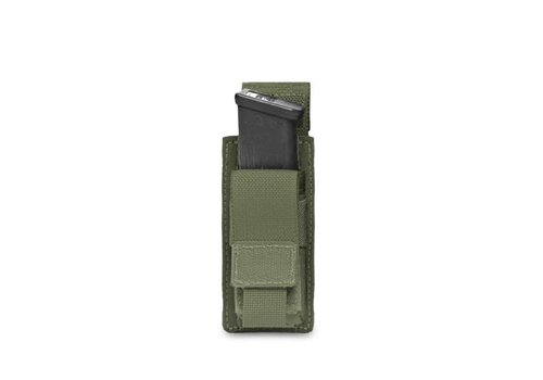 Warrior Direct Single 9mm Direct Action Pistol Mag Pouch - Olive Drab