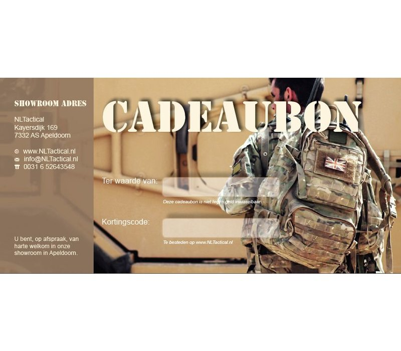 Cadeaubon NLTactical € 35,